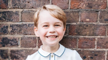 The difference between Prince George and Princess Charlotte's birthday portraits