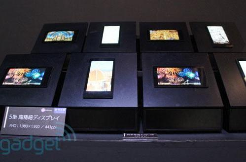 Sharp's new 443ppi 5-inch smartphone displays on show at CEATEC 2012 (update: 6.1-inch 498ppi panel spotted)