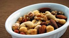 Though high in calories, nuts are a recommended healthy snack