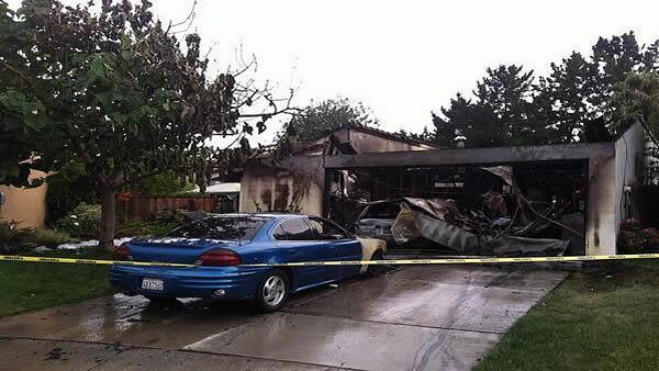 San Jose crews battle house fire that displaces three