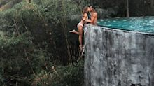 Instagram couple defend 'life-risking' infinity pool shot