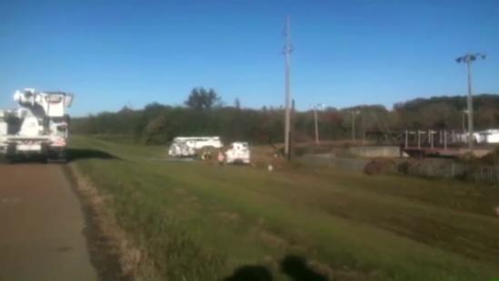 Downed power lines cause problems on Lakeland Drive