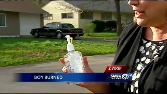 Police: Teen flicked flaming hand sanitizer on classmate