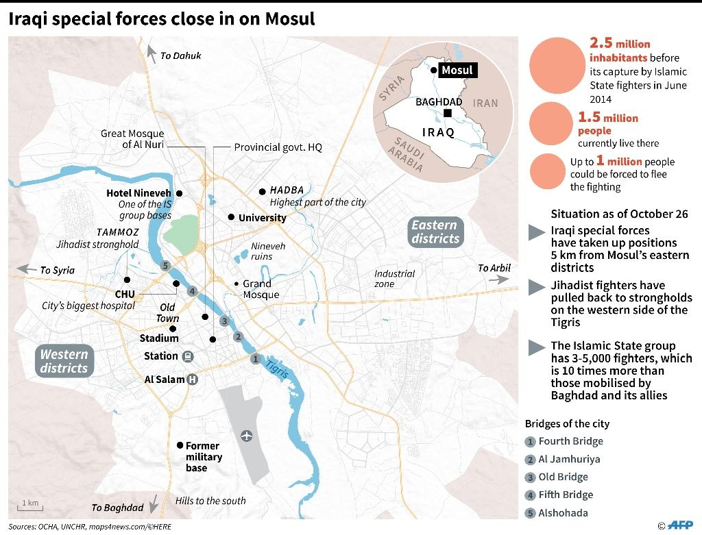 Allied forces move closer to Mosul (AFP Photo/)