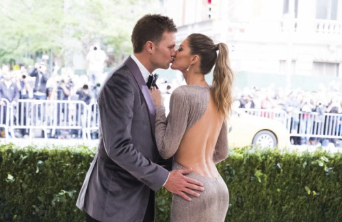 Tom Brady and Gisele Bundchen at The Metropolitan Museum of Art's Costume Institute benefit gala on May 1. (AP)