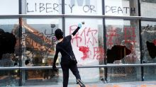 Asian markets fall as Hong Kong violence escalates, trade tensions linger