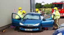 Horse rider cut free from car after taking a tumble