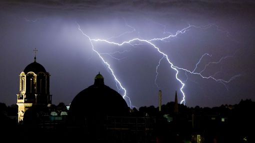 UK weather: Indian summer washed out as London braced for thunderstorms and hail