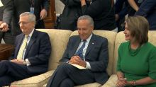 President Trump meets with Pelosi, Schumer