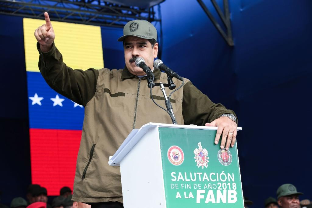 A group of Latin American countries says they will not recognize Venezuelan President Nicolas Maduro's mandate for a new six year term (AFP Photo/Francisco BATISTA)