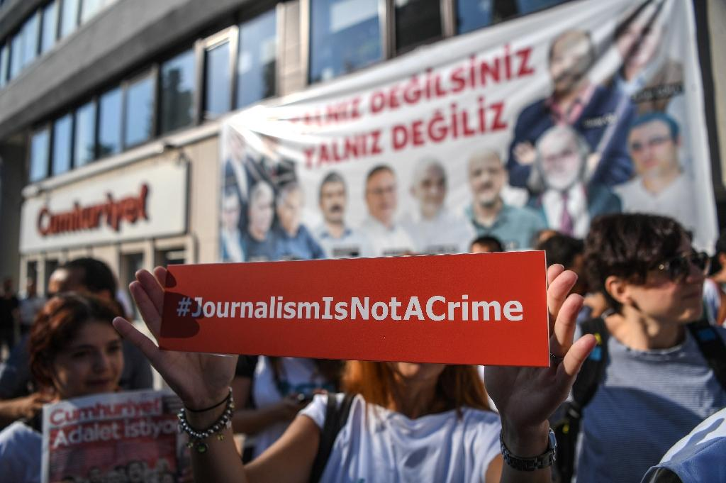 Dozens of journalists have been arrested in Turkey after the failed coup bid in July 2016 (AFP Photo/OZAN KOSE)