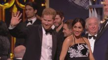 Harry and Meghan meet talent at Royal Variety Show