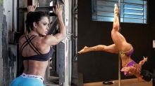 """Gracyanne Barbosa sobre pole dance: """"Diziam que eu nunca ia conseguir"""""""