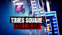 Cause Of Bus Collision In Times Square Under Investigation