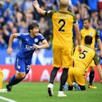 Leicester City 2 Brighton 0: Premier League new boys brushed aside as Craig Shakespeare's side get off the mark