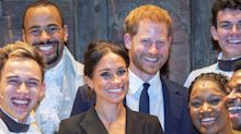 Prince Harry and Meghan Markle Shared an Understated PDA Moment at 'Hamilton'