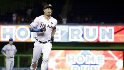 Giancarlo Stanton is one homer closer to reaching the rare 60-home run club