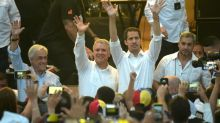 Opositor venezuelano Juan Guaidó chega ao show do lado colombiano da fronteira
