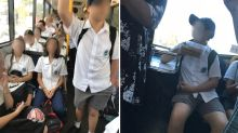 Woman outraged as students sit while adults are forced to stand on bus