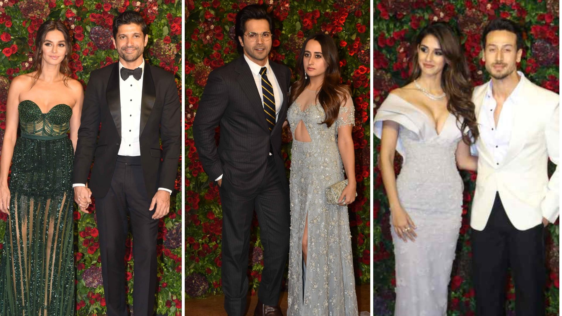 Image result for Deepika Padukone and Ranveer Singh  grand wedding receptionShah Rukh Khan,Varun Dhawan,Arjun Kapoor,Katrina Kaif, Anushka
