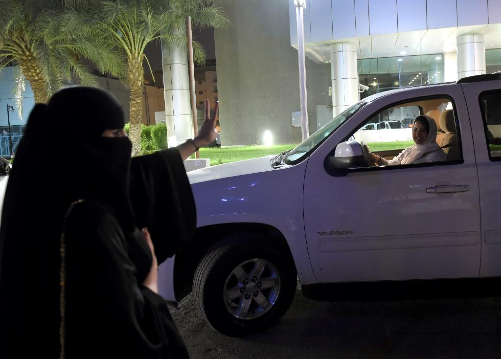Resistance to the end of the driving ban still resonates across some segments of society (AFP Photo/FAYEZ NURELDINE)