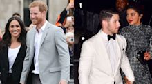 Meghan & Harry's Engagement Photo Is Recreated By Priyanka & Nick