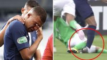 French World Cup winner Kylian Mbappe in tears after horror tackle