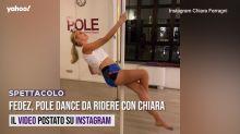 Fedez, pole dance da ridere con Chiara