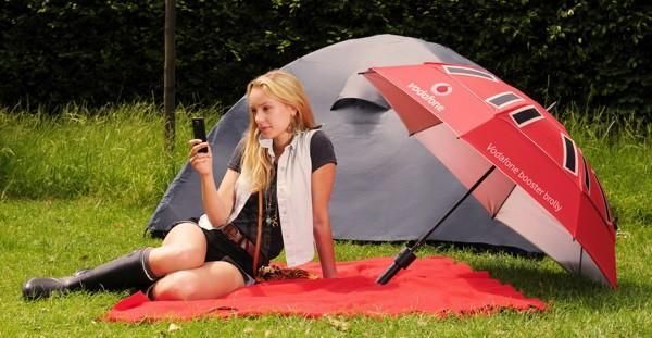 Vodafone creates a signal-boosting, solar-charging umbrella to juice your cellphone whatever the weather