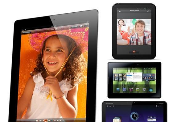 iPad 2 vs. Motorola Xoom vs. HP TouchPad vs. BlackBerry PlayBook: the tale of the tape