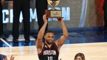Eric Gordon needed OT to flatten Kyrie Irving and win the 3-Point Shootout