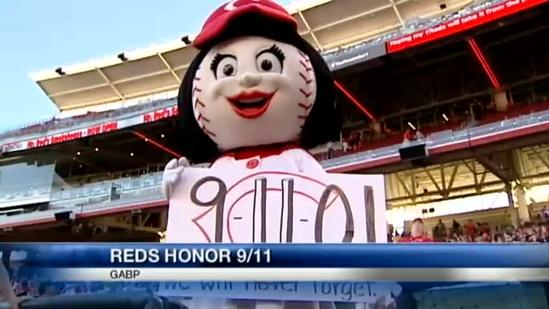 Reds mark 9/11 with patriotic display