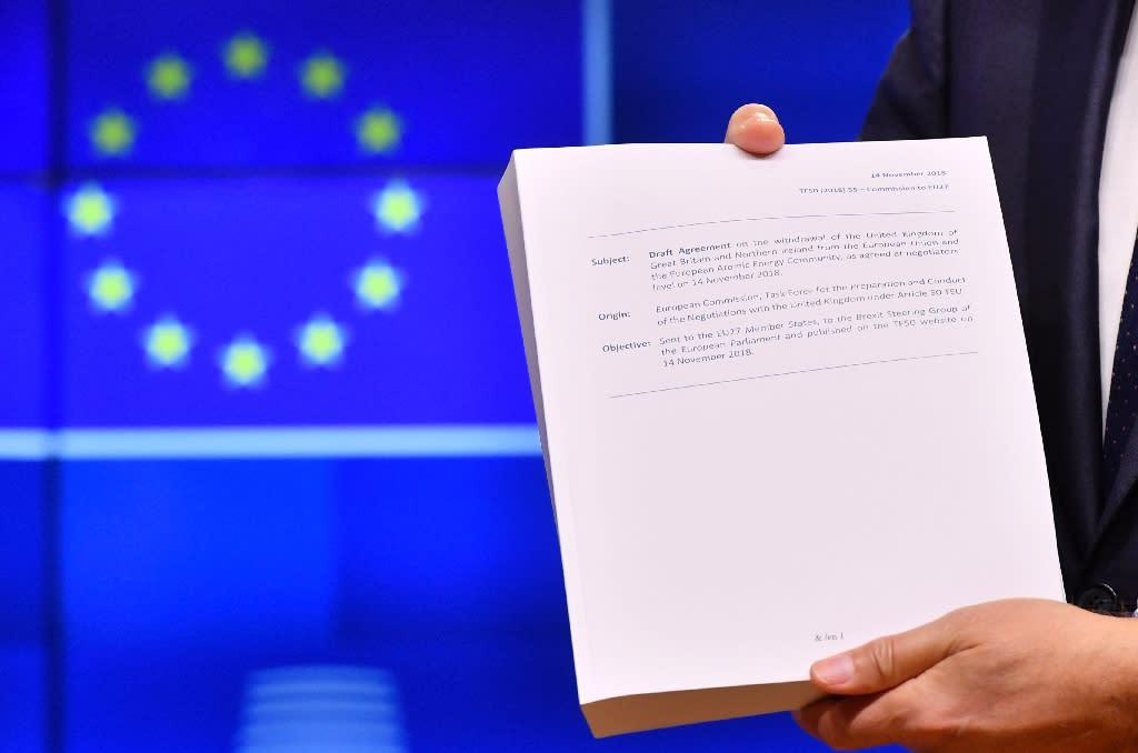 The divorce deal took 17 months to negotiate (AFP Photo/Emmanuel DUNAND)