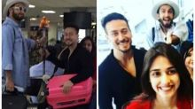 Photos: Ranveer Singh chats with Tiger Shroff as latter sits on Disha Patani's lap at Sri Lankan airport