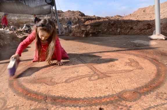 This Byzantine mosaic was discovered during salvage excavations in southern Israel.