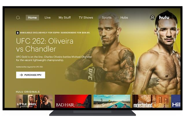 UFC pay-per-view events are now available through ESPN+ on Hulu