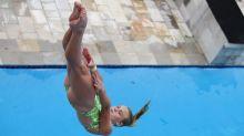 Delaney Schnell, world bronze medalist, went six months between platform dives