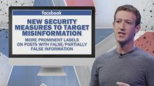 Facebook rolls out new measures to fight misinformation ahead of 2020