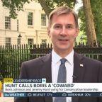 Jeremy Hunt accuses Boris Johnson of 'disrespecting' fellow Tories by refusing debate