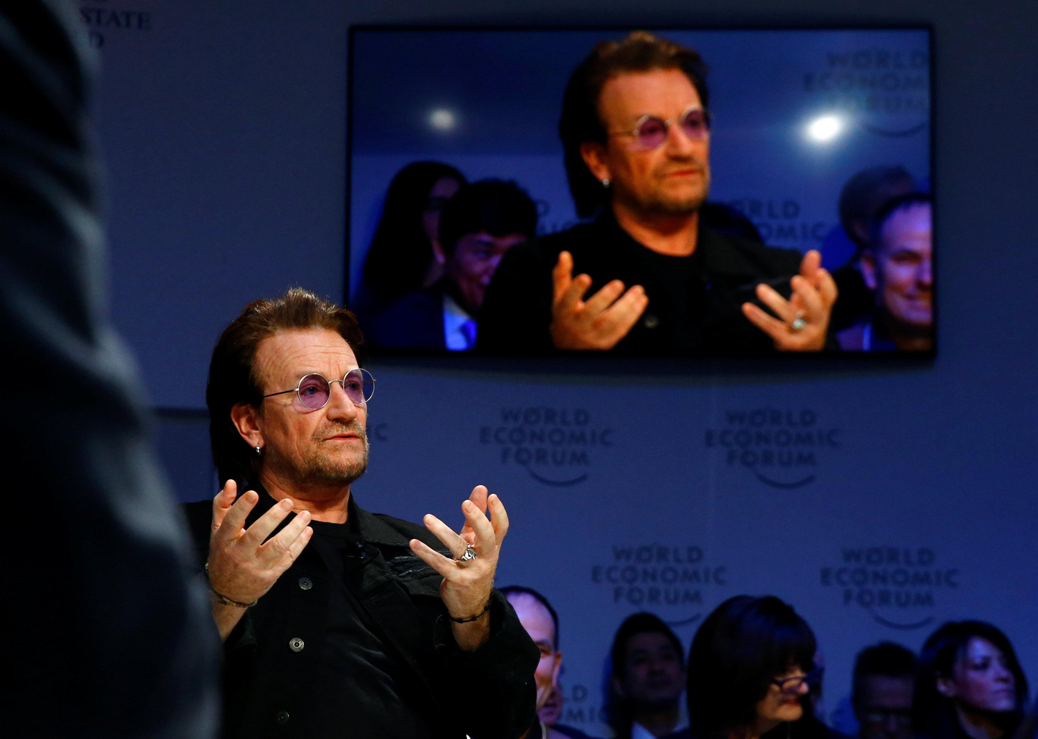 Bono tells Davos sustainable development goals 'sound like a sexually transmitted disease'