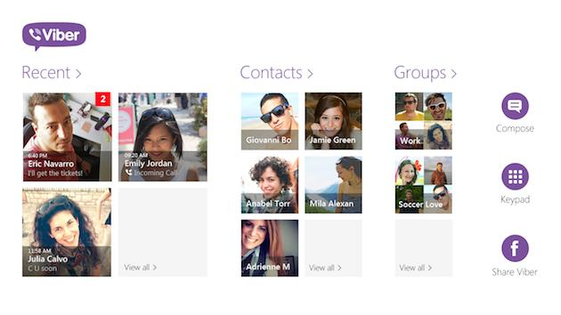 Viber continues to expand as it rolls out Windows 8 app