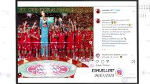 Social Media: Bayern-Stars feiern das Double