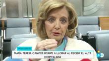 Teresa Campos abandona el hospital entre lágrimas