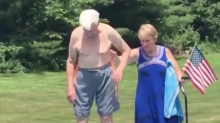 Watch this 95-year-old Air Force veteran show a little boy how to be brave