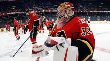 WATCH: Flames' Jon Gillies Makes Incredible Behind-the-Back Save