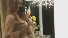 New mom Kate Upton praised for sharing 'relatable' selfie of her using a breast pump before her Valentine's Day date