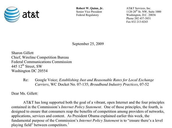 AT&T, Google trade barbs over Google Voice while FCC listens in