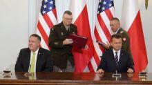 Pompeo se reúne con el primer ministro polaco para negociar un nuevo acuerdo de defensa