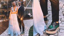 Bruno Gagliasso usa sapato com plataforma em casamento