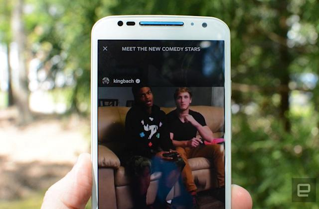 Instagram adds live video broadcasts and disappearing photos